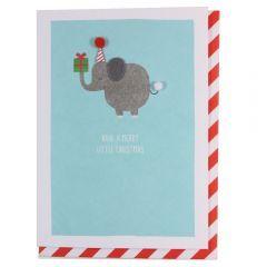 Julekort PC Elephant With Present