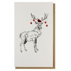 Julekort PC Reindeer Baubles