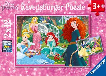 Puslespill 2X12 Wd Prinsesser Ravensburger
