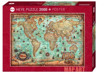 Puslespill 2000 The World Heye