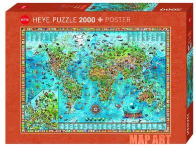 Puslespill 2000 Amazing World Heye