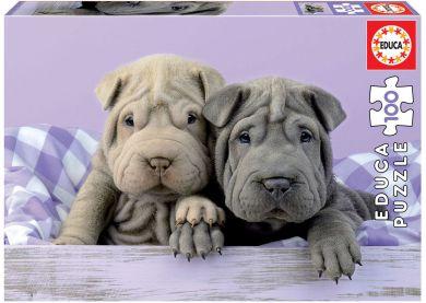 Puslespill 100 Puppies Educa