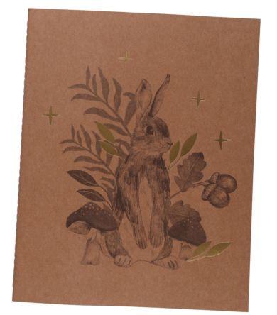 Notatbok Into The Woods Printed Kraft