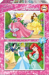 Puslespill 2x20 Disney Princess Educa
