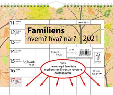 Familieplanlegger 2021 Familiens Hvem Hva Når