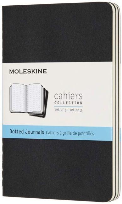 Notatbok Moleskine Cahier 3pk Pocket Dots Black