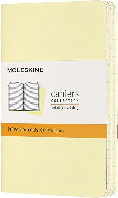 Moleskine Notatbok 3pk P Linjert Tender Yellow