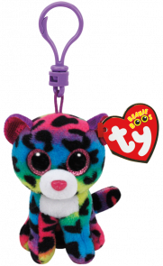 Bamse TY DotTY Multicolor Leopard Clip