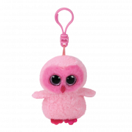 Bamse TY Twiggy Pink Owl Clip