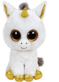 Bamse TY Pegasus White Unicorn Medium