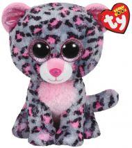 Bamse Ty Pink Grey Leopard Medium