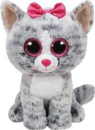 Bamse TY Kiki Grey Cat Medium