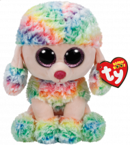 Bamse TY Rainbow Multicolor Poodle Medium