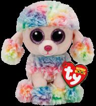 Bamse TY Rainbow Multicol Poodle Reg