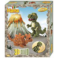 Leke Hama Midi Gaveeske 3D Dino 2500 Pcs