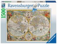 Puslespill 1500 World Map 1594 Ravensburger