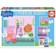 Puslespill 4i1 Progressive Peppa Pig Educa