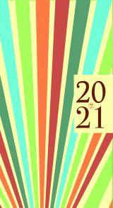 Lommekalender 2021 7.sans Datum Retro Uke A6 Strål