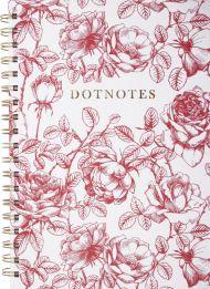 Notatbok Burde Dotter B5 Spiral Blomster