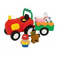 Traktor M/Tilhenger & Dyr,