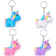 Nøkkelring Squeeze, Poo Poo Unicorn, 5Cm