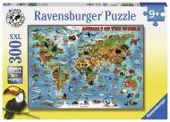 Puslespill 300 Verdenskart Ravensburger