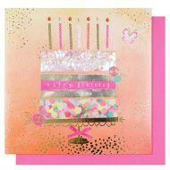Systemkort Cake Happy Birthday Confetti