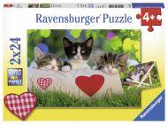 Puslespill 2X24 Kattunger Ravensburger