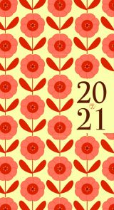 Lommekalender 2021 7.sans Datum Retro Uke A6 Natur