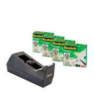 Tape Scotch Magic 810 19x33 4pk m/dispenser