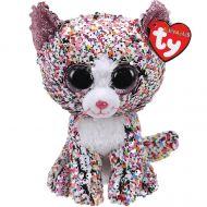 Bamse Ty Confetti Katt Glitter Med