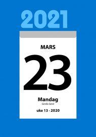 Veggkalender 2021 Liten kjempekalender A5 Topplim