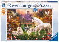 Puslespill 500 Magical Unicorn Ravensburger
