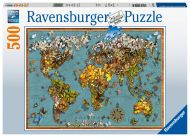 Puslespill 500B Verden av sommerfugler Ravensburge