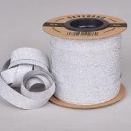 Gavebånd Sølv/Glitter 10mm X 25m