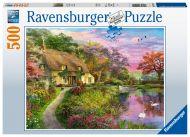 Puslespill 500 Landlig Hytte Ravensburger