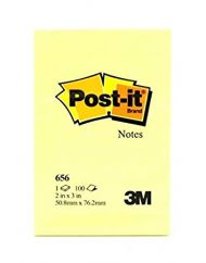 Post-It Notatblokk 656 Gul 51X76Mm