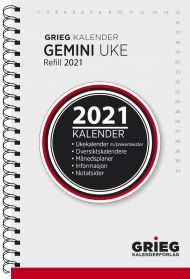 Kalender 2021 Gemini Refill Uke