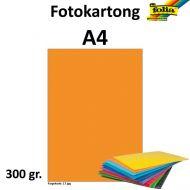 Fotokartong A4 300G Orange