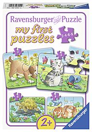 Puslespill 2,4,6,8 My First Puzzle Husdyr Ravensbu