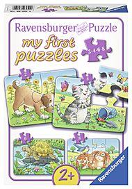 Puslespill 2,4,6,8 My First Puzzle Husdyr Ravensbu
