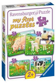 Puslespill 2,4,6,8 My First Puzzle Dyr Ravensburge