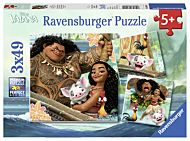 Puslespill 3X49 Disney Vaiana Ravensburger
