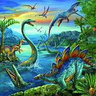 Puslespill 3X49 Dinosaurer Ravensburger