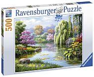 Puslespill 500 Romantisk Innsjø Ravensburger