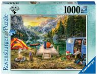Puslespill 1000 Campingliv Ravensburger