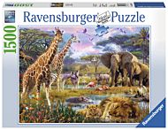 Puslespill 1500 Colorful Africa Ravensburger
