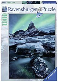 Puslespill 1000 Norge Nordlys Ravensburger