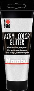 Acrylmaling Marabu 100ml 582 Glitt Sølv