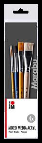 Penselsett Marabu Basics 4Stk